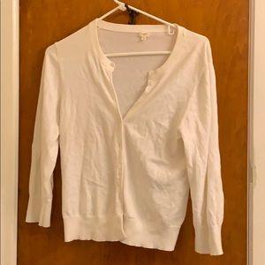 J. Crew white cotton sweater large